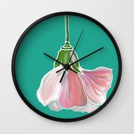 The Blue Flower Wall Clock