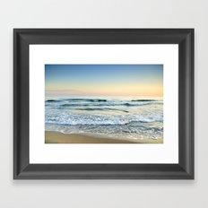 Serenity sea. Vintage Framed Art Print