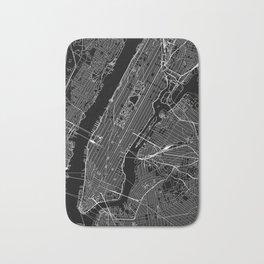 New York City Black Map Bath Mat