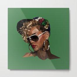 Rihanna in Shade Metal Print