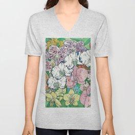 Fantasy Orchids Unisex V-Neck