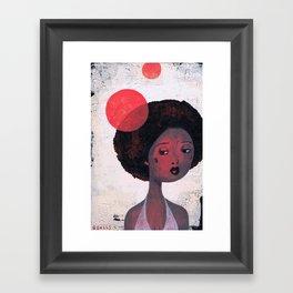 AFRO PSYCHE Framed Art Print