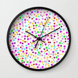 Colorful Rain 15 Wall Clock