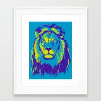lion king Framed Art Prints featuring KING LION by free_agent08