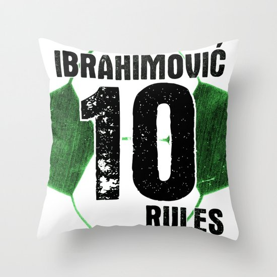 Ibrahimovic 10 Rules Throw Pillow