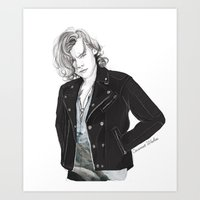 coconutwishes Art Prints featuring Biker Styles by Coconut Wishes