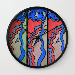 Star Crossed Two Wall Clock