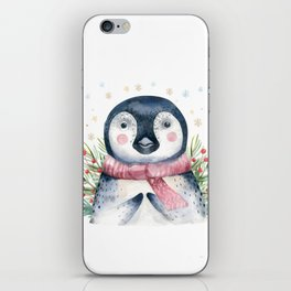 Christmas Penguin iPhone Skin