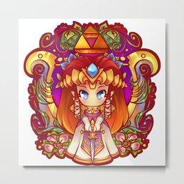 Princess Zelda Badge Metal Print