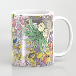 Psychic Type Pokémon Collage Coffee Mug