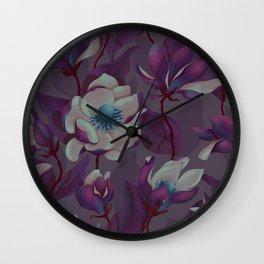 magnolia bloom - nighttime version Wall Clock