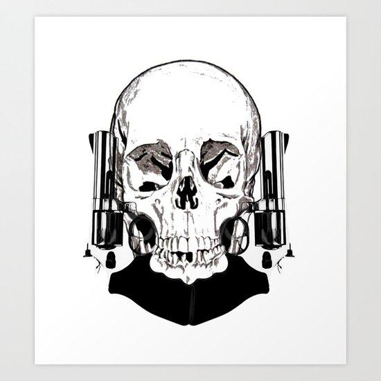 Revolver Beard Art Print