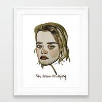 sky ferreira Framed Art Prints featuring Sky Ferreira by Icillustration