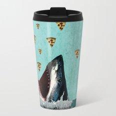 Pizza Shark Print Travel Mug