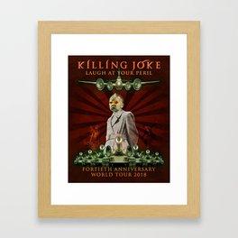 KILLING JOKE LAUGH AT YOUR PERIL TOUR DATES 2019 JARJIT Framed Art Print