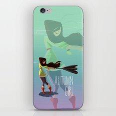 Autumn Girl iPhone & iPod Skin