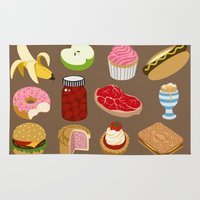 food Area & Throw Rugs featuring Food by John Holcroft