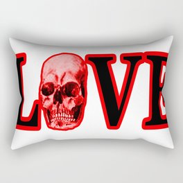 Love Red Skull The MUSEUM Zazzle Gifts Rectangular Pillow