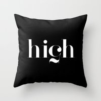 typography Throw Pillows featuring Typography by David
