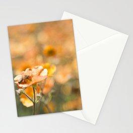 Bee in an Orange Field Stationery Cards