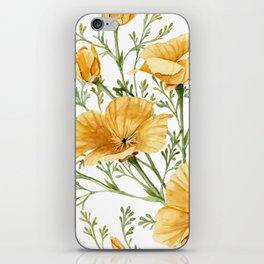 California Poppies - Watercolor Painting iPhone Skin