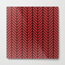 Red & Black Minimal Pattern Metal Print