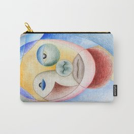 Face with circles Carry-All Pouch