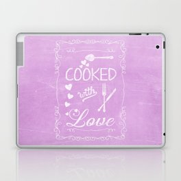 Cooked with love chalkboard sighn Laptop & iPad Skin