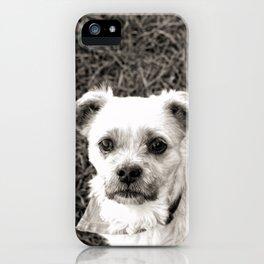 Fudge black and white iPhone Case