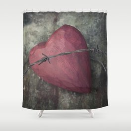 Trapped Heart III Shower Curtain