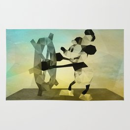 Mickey Mouse as Steamboat Willie Rug