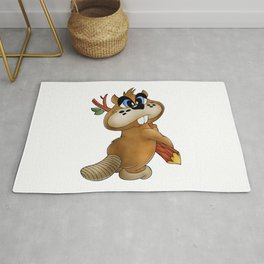 Otter With Wood in Hands Rug