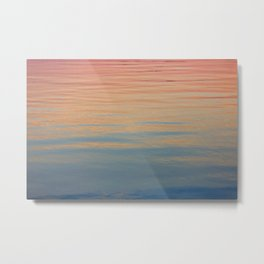 Watercolor Ocean Metal Print