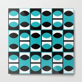Geometric Pattern 133 (turquoise lens) Metal Print