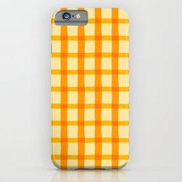 Yellow and Orange Jagged Edge Plaid iPhone Case