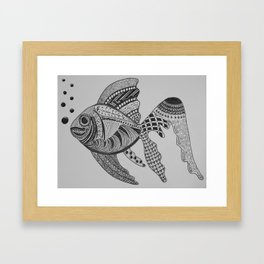 TangleArt Fish Framed Art Print