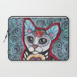 Day of the Dead Cat Laptop Sleeve