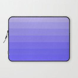 Blue Violet - Heather - Lavender Ombre Stripes Laptop Sleeve
