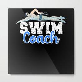 Swim Coach Metal Print