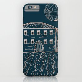 Italian Vintage Night - Countryside Landscape iPhone Case