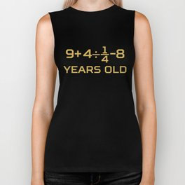 17 Years Old Algebra Equation Funny 17th Birthday Math Biker Tank