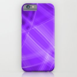 Metallic strokes with violet diagonal lines of intersecting bright stripes of light.  iPhone Case