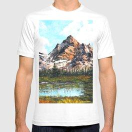 Bob Ross Mountain Artwork T-shirt