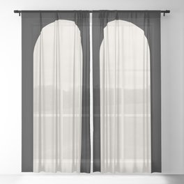 Minimal Arch - Black and White Sheer Curtain