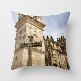 Catholic Church Iglesia La Merced in Granada, Nicaragua Throw Pillow