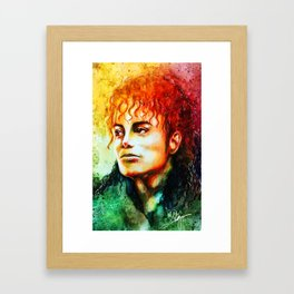 Man in the mirror Framed Art Print