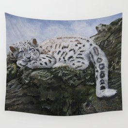 Blue Eyes by Teresa Thompson Wall Tapestry