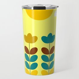 Flowers with bees Travel Mug