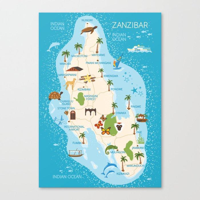 Zanzibar Map on