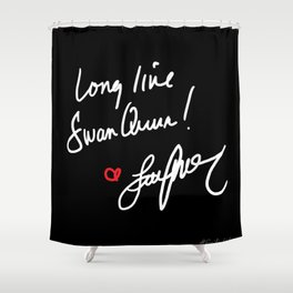 Long live Swan Queen! Shower Curtain